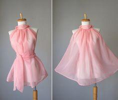 Pink sheer top