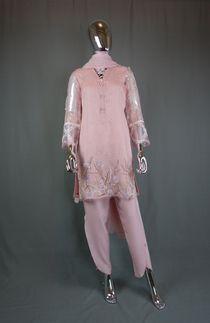 Pakistani Women Designer Shalwar Kameez with Tulip Pants - Pakistani Dresses in USA Pakistani Clothes Online, Pakistani Outfits, Tulip Pants, Shalwar Kameez, Designing Women, Dresses With Sleeves, Clothes For Women, Usa, Long Sleeve