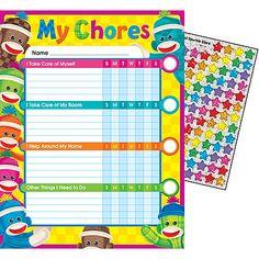 Sock Monkeys Chore Charts | TRENDenterprises.com