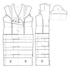 Pattern cocktail dress./Выкройка коктейльного платья.