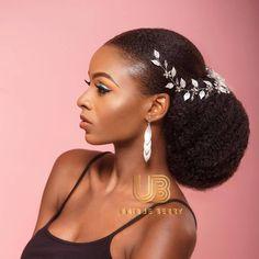 Black Brides Hairstyles, Elegant Hairstyles, Bride Hairstyles, Natural Hair Wedding, Natural Wedding Hairstyles, Wedding Beauty, Bridal Ponytail, Bridal Hairpiece, Natural Hair Bun Styles