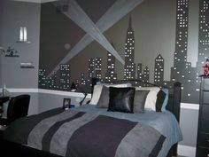 new york city skyline silhouette - wall decal custom vinyl art
