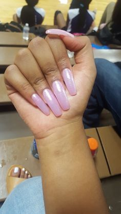 Long Pink Nails. Check out: @jaytopiaa❤️ (ORIGINAL: @guapshawty✨)