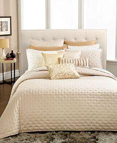 CLOSEOUT! INC International Concepts Incline Gold Coverlet Collection -- love the pillows!