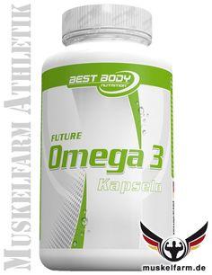 Best Body Nutrition Omega 3 Lachsöl Kapseln mit mehrfach ungesättigten Omega-3-Fettsäuren EPA und DHA, zusätzlich ist Vitamin E enthalten.