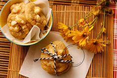 Cookie chocolate branco e macadamia Mole, Snack Recipes, Snacks, Cauliflower, Vanilla, Chips, Vegetables, Wafer Cookies, Tailgate Desserts