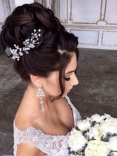 Best Ideas For Wedding Hairstyles : Elstile Long Wedding Hairstyle Ideas 8 / www. Wedding Hairstyles For Long Hair, Wedding Hair And Makeup, Wedding Beauty, Bride Hairstyles, Hairstyle Ideas, Bridal Hairdo, Wedding Updo, Wedding Bride, Bridal Hair Inspiration