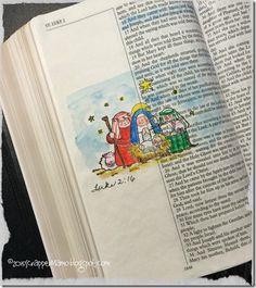 Bible Art Luke 2-16 Manger