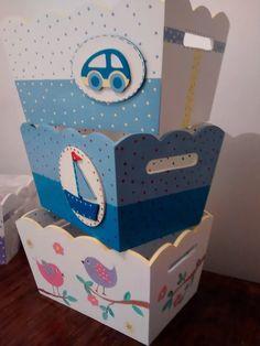 organizador  portacosmeticos bebes, ajuar, nacimiento Baby Shawer, Bebe Baby, Baby Box, Baby Boy Nursery Decor, Baby Boy Nurseries, Tole Painting, Painting On Wood, Wood Crafts, Diy And Crafts