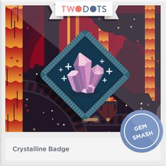I glimpsed a glint in the dark of cave and earned my Crystalline Badge! - playtwo.do/ts #twodots