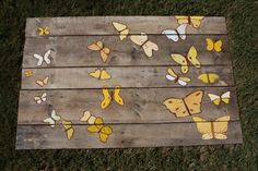 """Yellow Butterflies"" #pallet #painting"