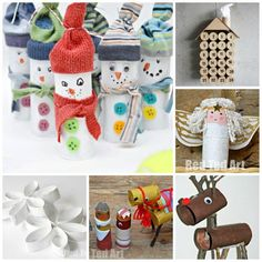 12 Christmas TP Roll Crafts - LOVE planning for Christmas.. here are some great ideas to start saving some TP Rolls for!
