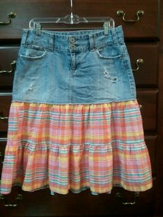 Mini skirt to modest skirt :)