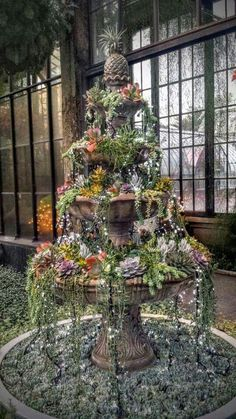 Great use for a broken fountain!