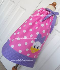 Daisy Duck Inspired Pink/Purple Polka Dot  pillowcase dress...perfect for a birthday party!
