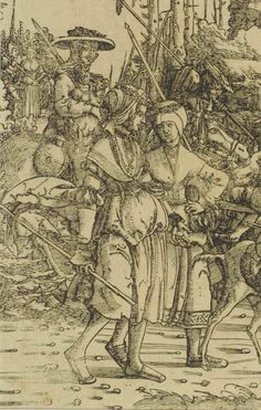 1512 (commissioned) ca. 1516 - 1519 (made) Burgkmair, Hans, born 1473 - died 1531 (artist) Triumph of the Emperor Maximilian I Renaissance Image, Renaissance Artists, Augsburg Germany, Maximilian I, 16th Century Clothing, Medieval, Artist Materials, Landsknecht, German Women