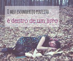 O esconderijo preferido de um amante de livros e leitura