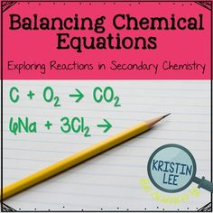 Balancing Chemical Equations Worksheet Example  Atoms