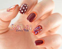 The Dalai Lama's Nails: Summery Hibiscus Flower Skittles Nail Art
