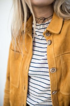 Fashion Me Now | Mustard Suede & Stripes_-15