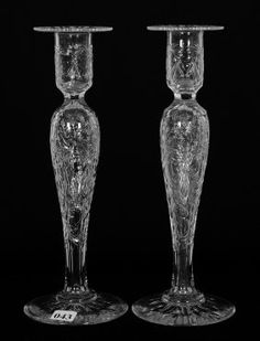 """PAIR CANDLESTICK HOLDERS - 10 3/4"""" - ABCG"""