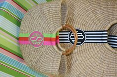 Preppy Must-Have. The Half-Moon Basket. Choose your size, ribbon & monogram!