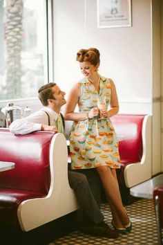 Oh my, a pie dress! <3 #cute #retro