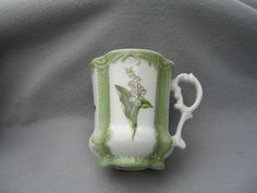 Hand Painted Lily Of The Valley Porcelain Mug. by Jane Kozlak