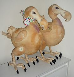 old and rescued linen dodos by mr finch