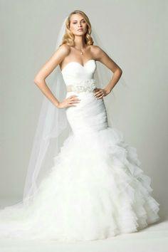 Vestido de novia corte sirena   bodatotal.com   wedding ideas, bridal, bride, wedding dress, mermaid cut