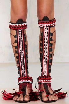 Deluxe beaded sandals