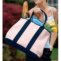 """Port Authority Canvas Tote With Contrast Handles    This versatile and practical accessory provides a fashionable canvas for your logo. 16-ounce, 100% cotton canvas with PU coating Two comfortable top handles One large interior compartment with snap closure 100% cotton lining Dimensions: 17""""w x 13""""h x 8""""d    Product code: B460  $33.98"""