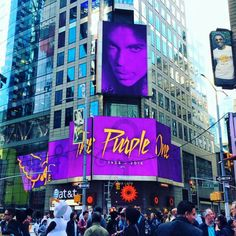 Times Square Prince Tribute 4/22/2016