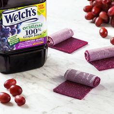 Welch's 100 Percent Grape Juice Fruit Leather 100 Prozent Traubensaft-Fruchtleder von Welch Anna Rabold Fruit Juice Recipes, Grape Recipes, Smoothie Recipes, Healthy Drinks, Healthy Snacks, Detox Drinks, Healthy Eats, Healthy Recipes, Welch Grape Juice