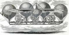 """THIS what I call a colossal flying machine! This concept from 1850 could carry in very limited comfort all these crowds of people and was powered by a mysterious """"ether-drive"""" (whatever this is): Read more at http://www.darkroastedblend.com/2013/07/airship-dreams-part-2-even-bigger.html#c4EfcYFKo4tOdLrW.99 Dark Roasted Blend: Airship Dreams, Part 2: Even Bigger!"""