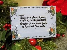 Norwegian Table Prayer painted on canvas by OlsenTrademarkCrafts, $25.00