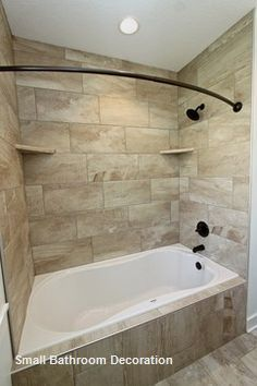 15 Decor And Design Ideas For Small Bathrooms 1 In 2020 Shower Remodel Bathtub Remodel Small Bathroom