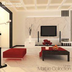 Sí quieres usar #rojo en tu #decoración lo puedes balancear con blanco o beige en mayor cantidad.