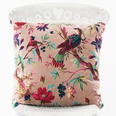 Nordal Velvet Bird Cushion available from The Other Duckling is from Danish accessories company Nordal and will add a touch of luxury to any home interior.