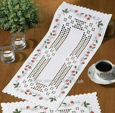 Shop online for Wild Strawberries Hardanger Table Runner Kit DISC at sewandso.co.uk. Browse our great range of cross stitch and needlecraft products, in stock, with great prices and fast delivery.