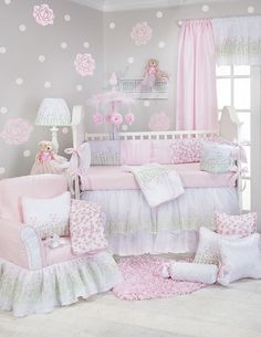 Secret Garden 8 Pc Baby Bedding Nursery Crib Set Glenna Jean New Gorgeous