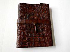 Dark Brown Embossed Leather by artfuladdie on Etsy