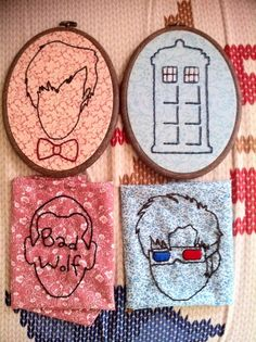 Doctor Who embroidery