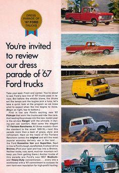 1967 Ford Trucks by coconv, via Flickr