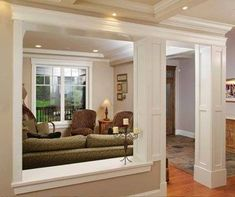 6 Amazing and Unique Tips and Tricks: False Ceiling Luxury Interior Design false ceiling ideas drywall.False Ceiling Living Room With Chandelier false ceiling design kitchens.Wooden False Ceiling Home. False Ceiling Design, Interior Columns, Interior Design, Office Light, Moulding And Millwork, Load Bearing Wall, False Ceiling Living Room, Luxury Dining Room, Half Walls