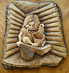 Банщик Wood Crafts, Diy And Crafts, Weird And Wonderful, Wood Toys, Wood Sculpture, Pyrography, Wood Carving, Caricature, Wood Art