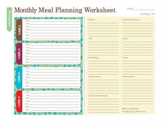 Monthly Meal Plan - printable and excellent for ramadan. better to have it planned out in advance. makes shopping and cooking easier insha'Allah.