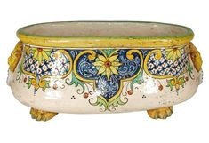 Italian Faience Cachepot #CeramicaInspiration click the image for more details.