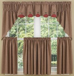 Home Place Lined Window Curtain Swag