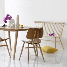 ERCOL Love Seat- as a dining chair